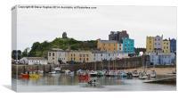 Tenby Harbour Pembrokeshire Wales, Canvas Print