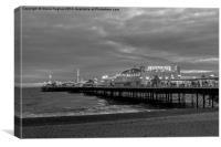 Brighton Pier Monochrome, Canvas Print