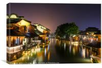 Ancient  Chinese town of Wuzhen, Canvas Print