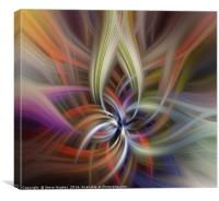 Swirls and loops in multiple colours, Canvas Print