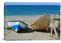 Boats at Cabo de Gata, Canvas Print