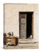 Old front door, Canvas Print