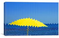 Brolly on the Beach, Canvas Print