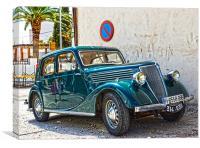 Vintage Renault, Canvas Print