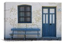 Blue and White, Canvas Print