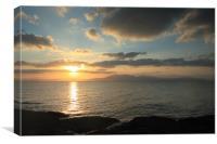 arran sunset, Canvas Print