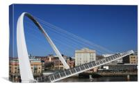 closing bridge, Canvas Print
