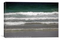 Breaking Waves in Summer, Canvas Print