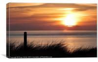 Golden Sun Sinks Westwards, Canvas Print