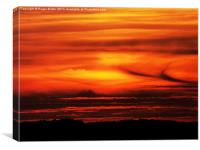 Fiery Yorkshire Sunset, Canvas Print