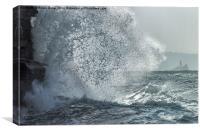 Angry Waves at Porthtowan, Canvas Print