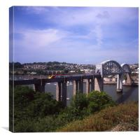 Royal Albert Bridge - Virgin Voyager, Canvas Print