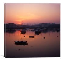 Sunset over Cattewater, Canvas Print