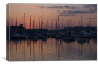 Sunset over Mount Batten, Canvas Print
