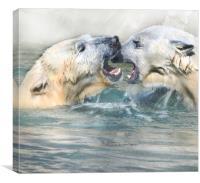 Mother & daughter disagreement, Canvas Print
