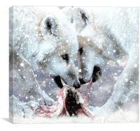 Christmas dinner, Canvas Print