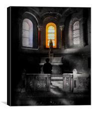 Shadows in the church, Canvas Print