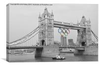 Tower Bridge Olympic Rings, Canvas Print