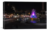 Trafalgar square at night, Canvas Print