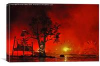 Firetree, Canvas Print