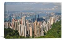 Hong Kong City, Canvas Print