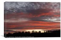 Fire Sky, Canvas Print