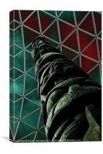 Solarised Totem Pole, Canvas Print