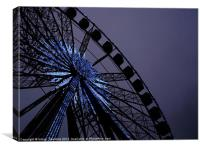 Blue Star Wheel, Canvas Print