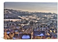 Wirksworth From Above, Canvas Print