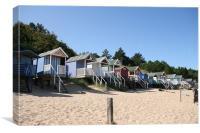 Beach Huts at Well next the Sea North Norfolk, Canvas Print
