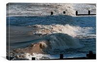 Winter sea at Cromer, Canvas Print