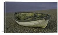 Rowing boat on Weybourne beach, Canvas Print