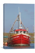Fishing boat at Brancaster, Canvas Print
