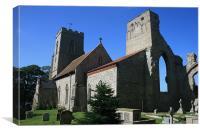 Weybourne church, Canvas Print