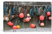 Fishing floats at Sheringham, Canvas Print