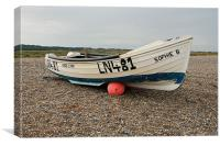 Fishing Boat, Cley Beach, North Norfolk, Canvas Print