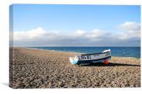 Fishing boat , Cley Beach, Canvas Print
