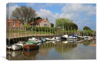 Boats at Blakeney Quay, Canvas Print