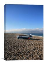 Fishing boat, Cley Beach, Canvas Print