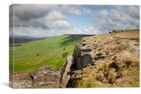 View along Stanage Edge, Canvas Print