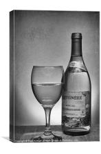 Glass of White, Canvas Print