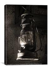 The old Oil lamp, Canvas Print