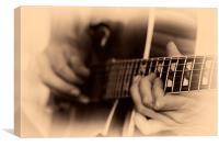 Guitar Picker, Canvas Print