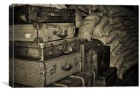 Wartime Luggage, Canvas Print