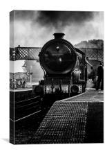 The Train at Platform 1, Canvas Print