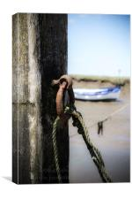 Mooring Post, Canvas Print