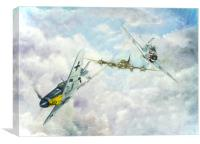 Aerial Dual over Europe, Canvas Print