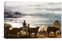 Bringing the Herd Home, Canvas Print