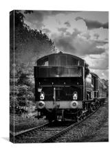 Loco arriving, Canvas Print