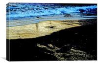 Evening sunlight on sand, Canvas Print
